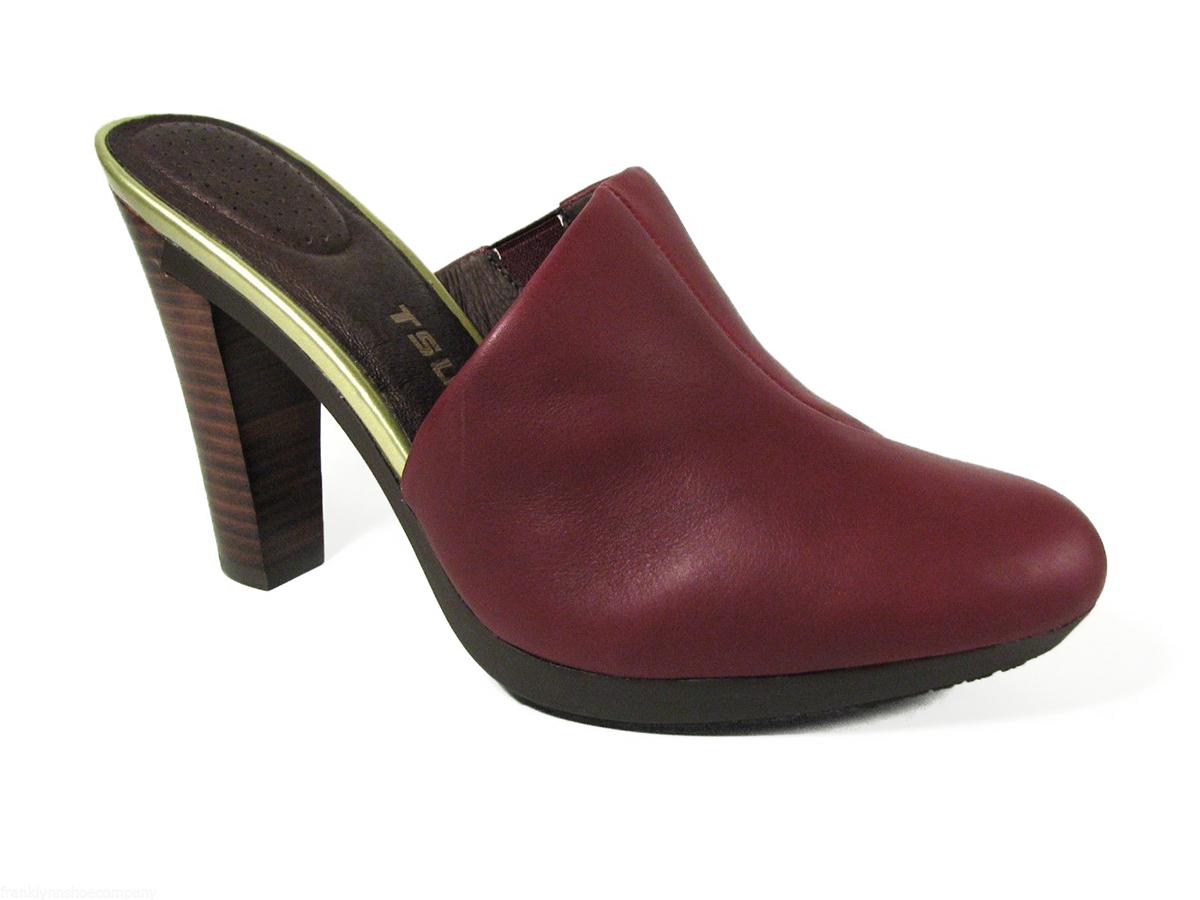 New Womens TSUBO Fifee Sangria Leather Classic Toe and Heel Padded High Heels